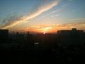 早朝便なので日の出時間起き・・・