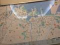 ロビーにある地図