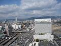 部屋からの眺望。左下が広島駅。