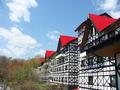 山道の奥には可愛いペンション風ホテル