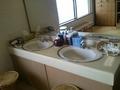 大浴場の更衣室の洗面台