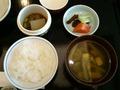 温物、香物、留碗、御飯