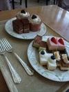 お昼バイキングのケーキ