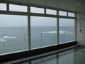 最上階のオーシャンビュー大浴場