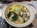 厚岸産の牡蠣鍋