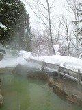 源泉かけ流し温泉&雪見風呂