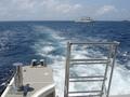 ダイビングをするため船に乗りました。