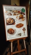 レストランのポスター