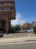 駐車場広いですね。