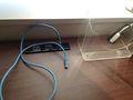 机にランケーブルが備え付けなので、インターネット早いです。