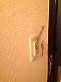 鍵を差し込む と電源が入ります。