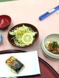 焼き魚 サラダ 写真です。