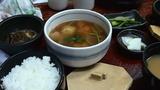 越後湯沢駅での昼食