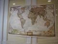 世界地図の展示