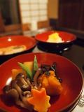 夕食:野菜の炊合せ