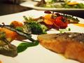 野菜メインの目にも美しいコースディナー