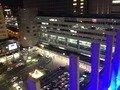 屋上から見た博多駅です。
