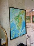 1F ロビーに九州地図が大きく張ってあります。