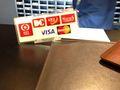 クレジットカード使える幅が狭いです・・・