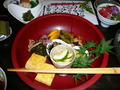 地元特産の野菜をふんだんに使用したお食事