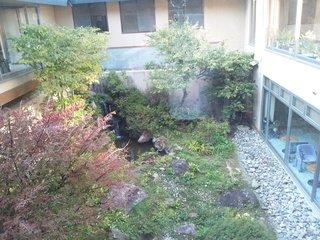 2階から見る庭園