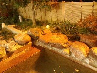 お風呂の外の庭