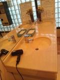 内湯オーロラの湯の洗面台