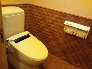 露天風呂のトイレ