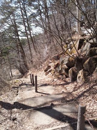 乙女滝への階段