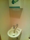 部屋のトイレの手洗い