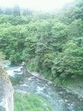 渓流側の部屋からの眺め