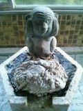 「夢殿」岩風呂の内湯の給湯口