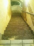 「夢殿」内湯から岩風呂への階段