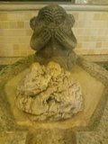 「夢殿」岩風呂の給湯口