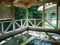 「夢殿」露天風呂から内湯を見たところ