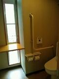 露天風呂の脱衣場のトイレ
