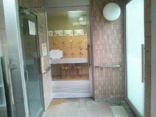露天風呂の出入口