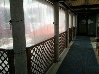 休憩所への廊下