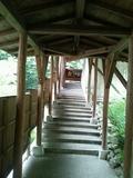 露天風呂「森のこだま」への廊下