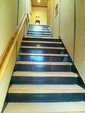 男湯の露天風呂への階段