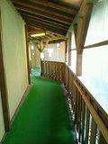 露天風呂への渡り廊下
