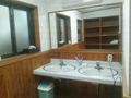 露天風呂付き浴場の脱衣場