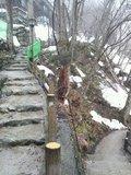 野天風呂への階段