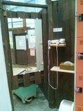 野天風呂の脱衣場