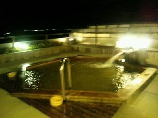 畳の露天風呂