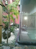 内湯の外の庭