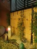 脱衣場の庭