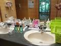 貸切り風呂「薬師の湯」の脱衣場