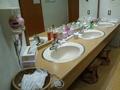 貸切り風呂「小泉の湯」の洗面台