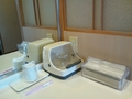 部屋の洗面台のアメニティ